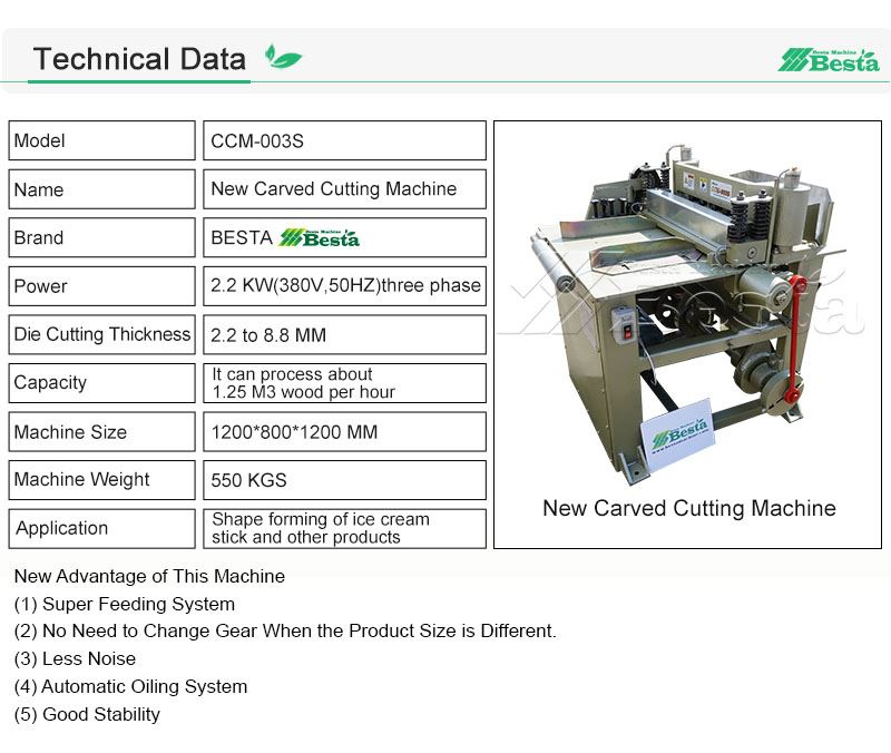 Carved Cutting Machine Technical Data